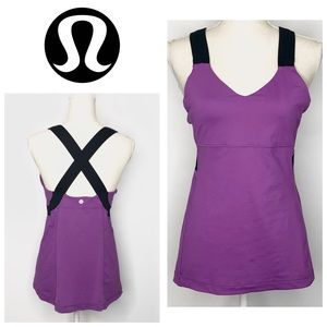LuluLemon Push Your Limits Tank Top Purple Black